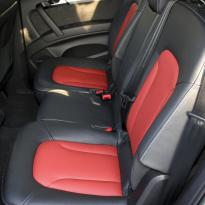 Audi q7 s-line 7 seat black leather with red inserts  silver stitching 004
