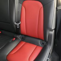 Audi q7 s-line 7 seat black leather with red inserts  silver stitching 005
