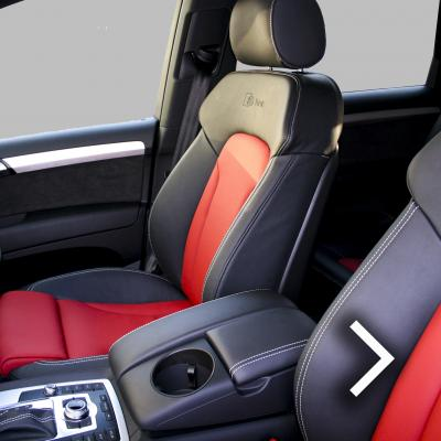 Audi q7 s-line 7 seat black leather with red inserts  silver stitching thumbnail