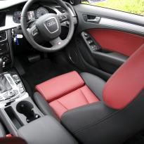 Audi s4 saloon nl b8 black nappa leather with dark red nappa inserts 005