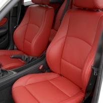 Bmw e87 sport nl dakota coral red leather 002