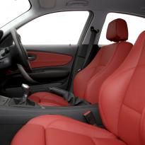 Bmw e87 sport nl dakota coral red leather 003