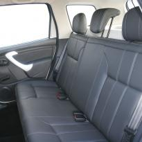 Dacia duster ambience black leather with silver stitching 007