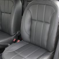 Dacia sandero stepway black leather with silver stitching 002