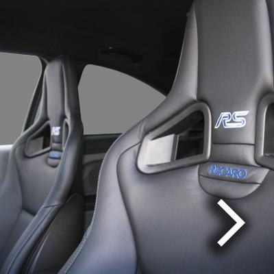 Ford focus rs black with blue stitching thumbnail