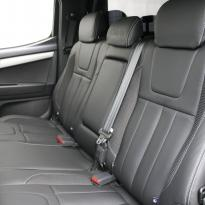 Isuzu dmax blade black leather with fabric inner wings  silver stitching 008