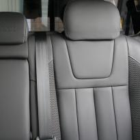 Isuzu dmax blade black leather with fabric inner wings  silver stitching 014