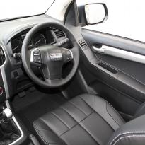 Isuzu dmax yukon extended cab black leather with white stitching 11