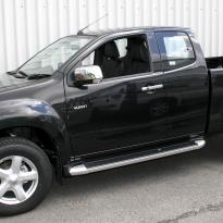 Isuzu dmax yukon extended cab black leather with white stitching 1