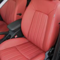 Kia ceed coral red leather 006