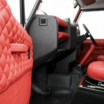 Landrover defender 90 xs coral red leather with quilted inserts 007