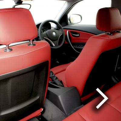 Bmw e87 sport nl dakota coral red with white stitching thumbnail