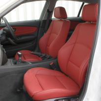 Bmw e87 sport nl dakota koral red with white stitching 002
