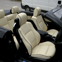 Bmw e93 cab sport champayne nappa with black piping leather 001