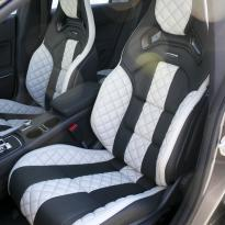Merc 117 cla 45 amg black nappa with portland grey quilted sections 003