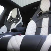 Merc 117 cla 45 amg black nappa with portland grey quilted sections 005