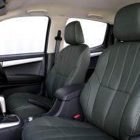 Isuzu dmax huntsman green with white stitching 003