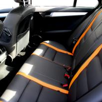 Mercedes 204 C-Class Sport Black Leather With Orange Sections & Stitching 10