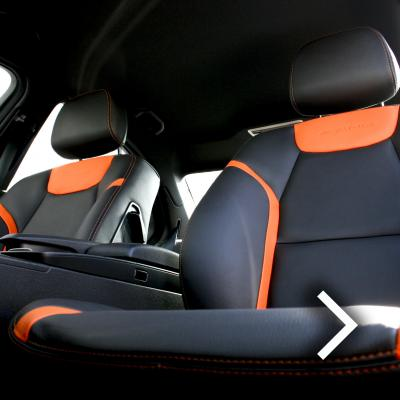 Mercedes 204 C-Class Sport Black Leather With Orange Sections & Stitching 1