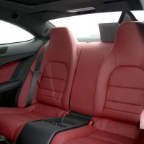 Merc 204 c-class coupe sport flamenco red 005