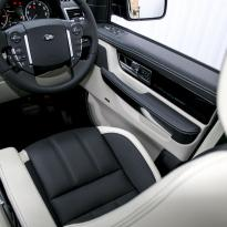Rangerover sport autobiography ivory nappa with black nappa inserts  stitching 009