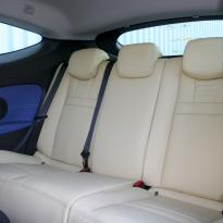 Renault megane coupe dynamique artisan cream with blue sections  stitching 005