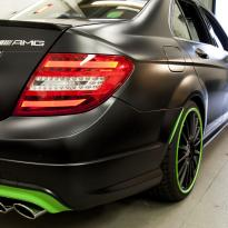 Mercedes cclass 204 c63 amg orange  green leather seats11