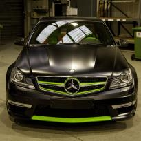 Mercedes cclass 204 c63 amg orange  green leather seats1