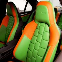 Mercedes cclass 204 c63 amg orange  green leather seats6