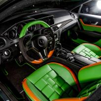 Mercedes cclass 204 c63 amg orange  green leather seats8