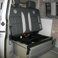Volkswagen california campervan grey leather with perforated inserts 021