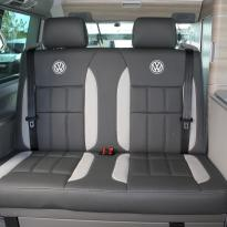 Volkswagen california campervan grey leather with perforated inserts 022