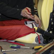 Mini clubam red leather seats 3