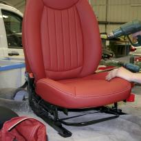 Mini clubman red leather seats 4