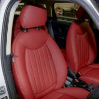 Mini clubman red leather seats 9