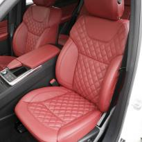 Merc 166 ml sport dark red nappa quilted with black stitching 003