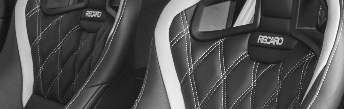 Renault Clio MK3 Sport 200 Recaro Black leather with silver quilting & stitching