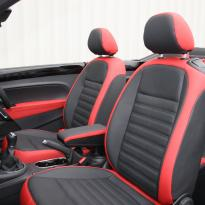 Beetle cabriolet design black with red outer boarders(3)