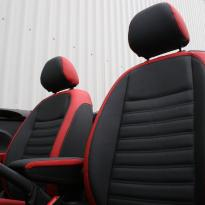 Beetle cabriolet design black with red outer boarders(6)