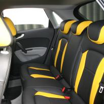 Audi a1 sptback se black with yellow inserts(8)