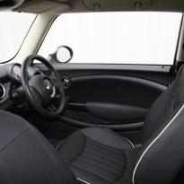 Mini r56 hatch cooper black with cream piping(7)