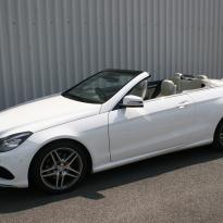 Mercedes benz e-class cabriolet sport dakota grain leather in lemon yellow(1)
