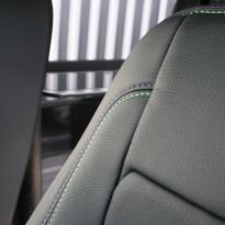 Vw t5 van with rib 11z rear seat black with purple and green stitch(4)