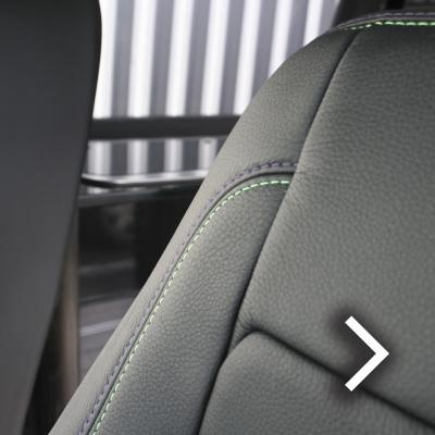 Vw t5 van with rib 11z rear seat black with purple and green stitch