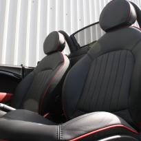 Mini r59 roadster spt lounge black with red piping(5)