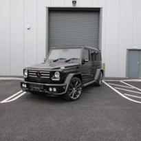 Mercedes benz g wagon classic red nappa leather and black alcantara inserts with bespoke quilting(2)