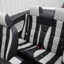 Vw eos sport black leather with portland grey guilted centre stripe and inner wings(5)