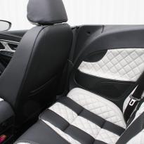 Vw eos sport black leather with portland grey guilted centre stripe and inner wings(7)