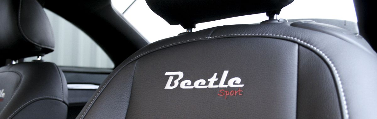 Volkswagen Beetle Sport Black leather with silver stitching